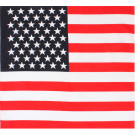 "Red White & Blue US American Flag 27"" x 27"" Bandana"