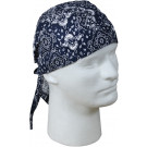 Navy Blue Biker Headwrap Bandanna/Do-Rag