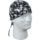 Black Skulls Biker Headwrap Bandanna/Do-Rag