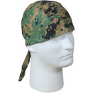 Woodland Digital Camouflage Biker Headwrap Bandanna/Do-Rag