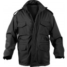Black Military Soft Shell Tactical M-65 Field Jacket