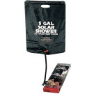 Black Solar Portable Hot Water Camp Shower (5 Gallon)