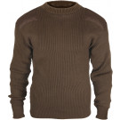 Brown Military Acrylic Tactical Commando Crewneck Sweater