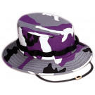 Purple Camouflage Military Wide Brim Jungle Hat