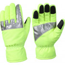 Safety Green Waterproof HI-VIS Work Gloves With Reflective Tape
