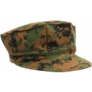 Woodland Digital Camouflage Military Marine Corps 8 Point Utility Cap