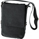Black Vintage Military Canvas Tactical Tech iPad Shoulder Bag