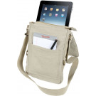 Khaki Vintage Military Canvas Tactical Tech iPad Shoulder Bag