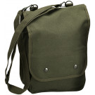 Olive Drab Military Heavyweight Canvas Map Case Shoulder Bag