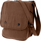 Earth Brown Military Canvas Map Case Shoulder Bag