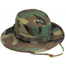 Woodland Camouflage Military Rip-Stop Wide Brim Boonie Hat