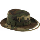 Woodland Camouflage Vintage Military Tactical Wide Brim Boonie Hat