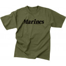 Olive Drab Military Marines Short Sleeve T-Shirt