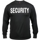 Black Security Tactical 2-Sided Long Sleeve Military T-Shirt