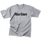 Grey Military Marines Short Sleeve T-Shirt