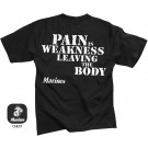 Black 2 Sided Pain Is Weakness Short Sleeve T-Shirt