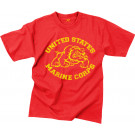Red USMC Marines Bulldog Vintage T-Shirt