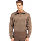 Brown ECWCS Fleece Cold Weather Zip-Collar Underwear Shirt