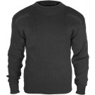 Black Military Acrylic Tactical Commando Crewneck Sweater