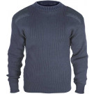Navy Blue Military Acrylic Tactical Commando Crewneck Sweater