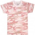 Baby Pink Camouflage Kids Military Tactical T-Shirt