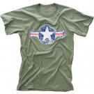 Olive Drab Army Air Corp Star Vintage T-Shirt