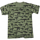 Olive Drab Guns & Rifles Military Vintage T-Shirt