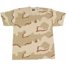 Tri-Color Desert Camouflage Kids Military Tactical T-Shirt