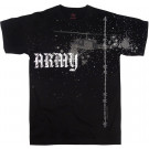 Black Army Helicopter Vintage T-Shirt