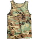 Woodland Camouflage Military Physical Training Tank Top