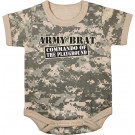 ACU Digital Camouflage Infant Commando Of The Playground One Piece Bodysuit