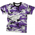 Purple Camouflage Kids Military Tactical T-Shirt
