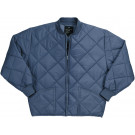 Navy Blue Military Nylon Diamond Quilted Flight Jacket
