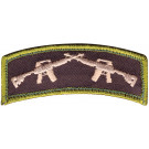 Military Crossed Rifles Patch With Hook Back