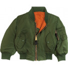 Kids Sage Green Air Force MA-1 Flight Jacket
