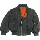 Kids Black Air Force MA-1 Flight Jacket