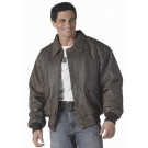 Brown Vintage Military Air Force Style Leather Classic A-2 Flight Jacket