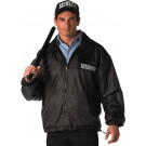 Black Law Enforcement Security Nylon/Polar Fleece Reversible Jacket