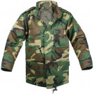 Woodland Camouflage Kids Military M-65 Field Jacket