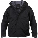 Black Military All Weather Waterproof 3 Season Lined Jacket