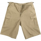 Khaki Military Long BDU Cargo Shorts