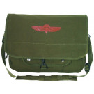 Olive Drab Military Israeli Emblem Paratrooper Shoulder Bag