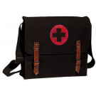 Black NATO Medic Red Cross Canvas Shoulder Bag