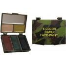 Woodland Camouflage Military Face Paint - 5 Colors