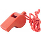 Safety Orange Highly Visible Plastic Whistle with Lanyard