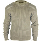Khaki Military Acrylic Tactical Commando Crewneck Sweater