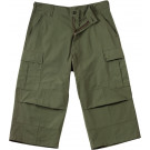 Olive Drab Military Capri Rip-Stop Fatigue BDU Pants