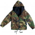 Woodland Camouflage Military Tactical Reversible Fleece Jacket