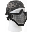 Black Military Bravo Tactical Gear Steel Half Face Mask Strike Force