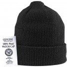 Black Military Winter Beanie Hat Wool Watch Cap USA Made